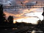 Вечер на ЖД вокзале.