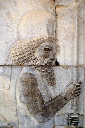 Персидский воин с бородой