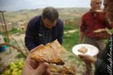 Поджаренный хлеб и ventricina — паста из говядины