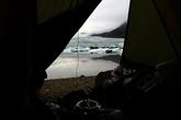 Но это стоило того! Бодрящий воздух, и вид из палатки, которым может похвастаться далеко не каждый отель.