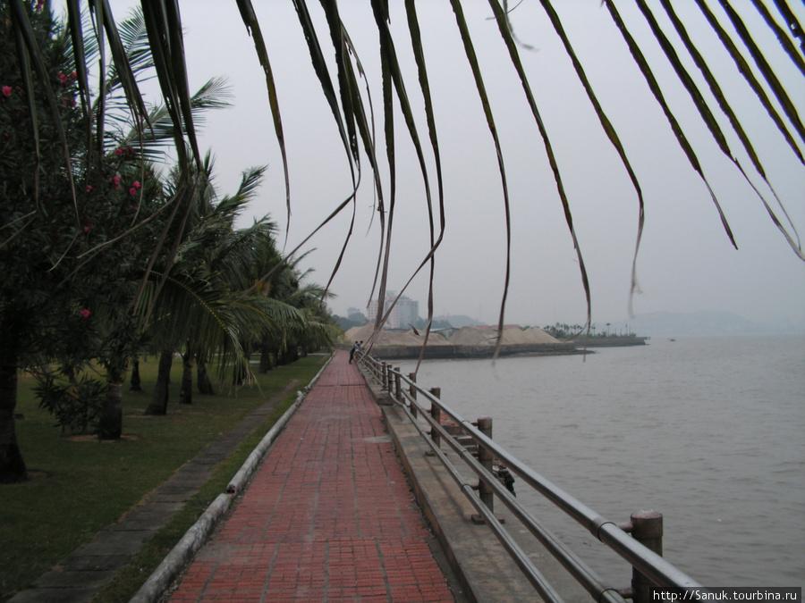 Halong City. Набережная. Туман