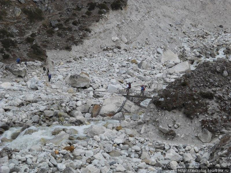 Каменный хаос морены ледника Кхумбу