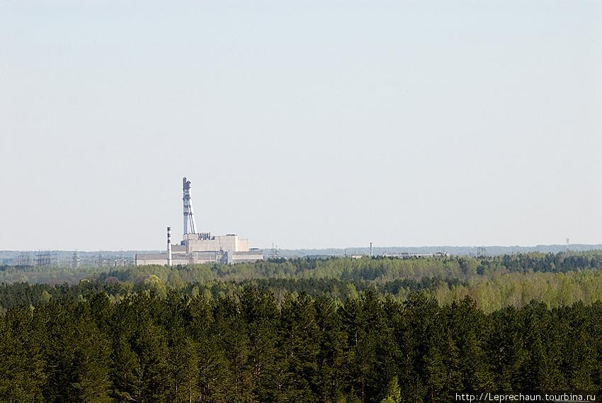 Игналинская атомная станция с крыши самого высокого здания в городе