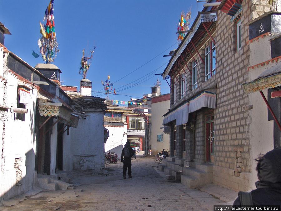 На аллеях тибетского квартала Шигадзе