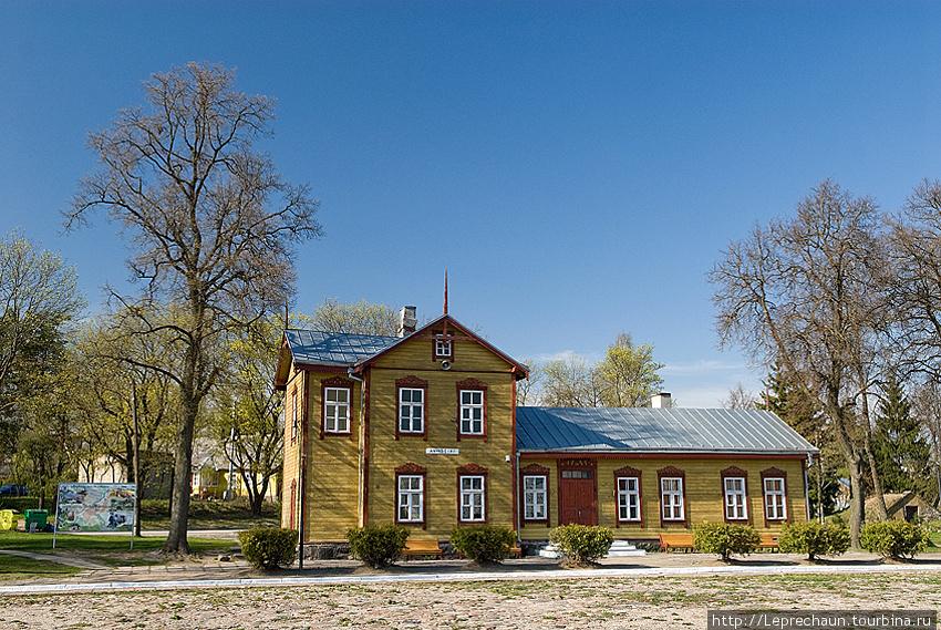 Станция узкоколейной дороги Аникщай