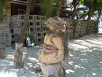 Месный памятник и деревянные клетки для ловли лобстеров
