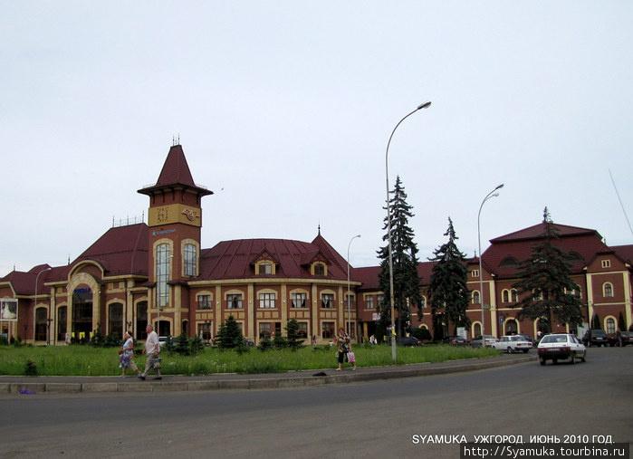 Железнодорожный вокзал в Ужгороде.