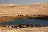 Озеро в песках, рядом с Сивой