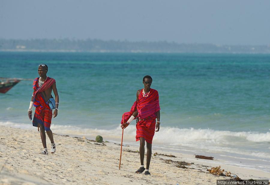 масаи на пляже