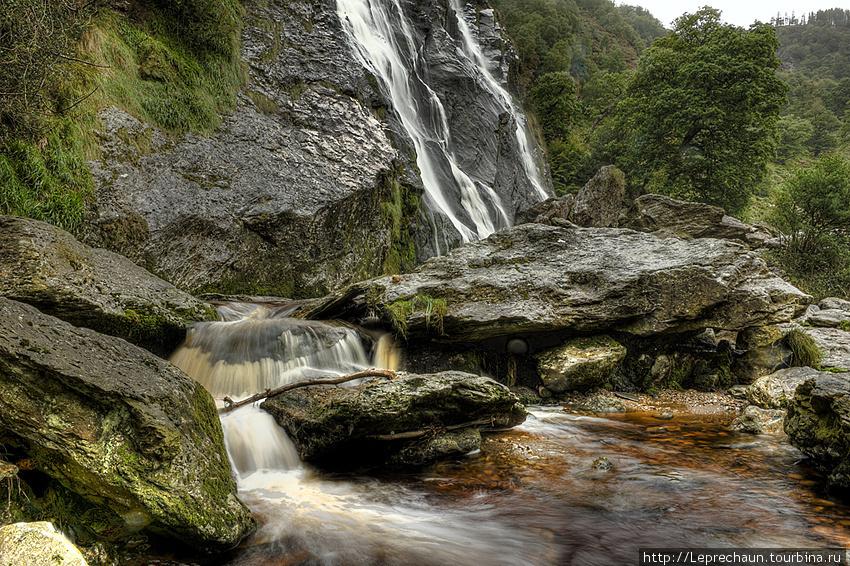 У подножия водопада Пауэрскорт