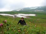 Снег летом на плато Лагонаки