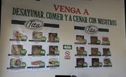 Стандартный вид меню в обычной уличной кафешке в Сан Луис Потоси
