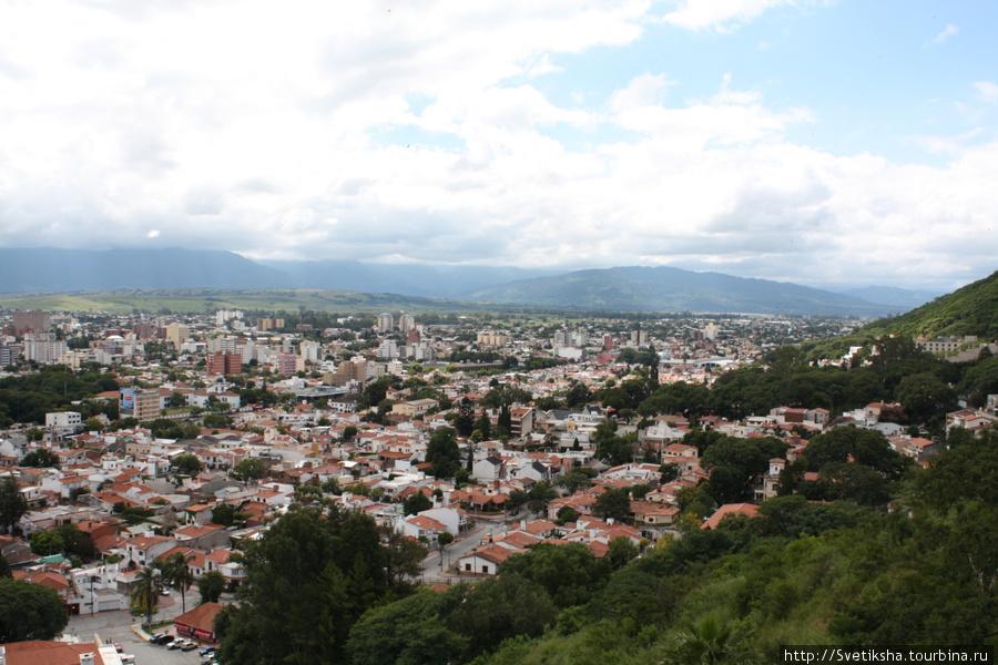 Вид сверху лучше Сальта, Аргентина