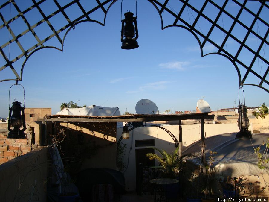 Вид с террасы риада Дарна