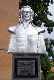 Памятник основоположнику литовской художественной литературы Кристионасу Донелайтису, уроженцу города Гусев