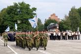 На площади Балтийской славы идет репетиция парада