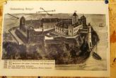 Старая картина с изображением замка Бальга до его разрушения