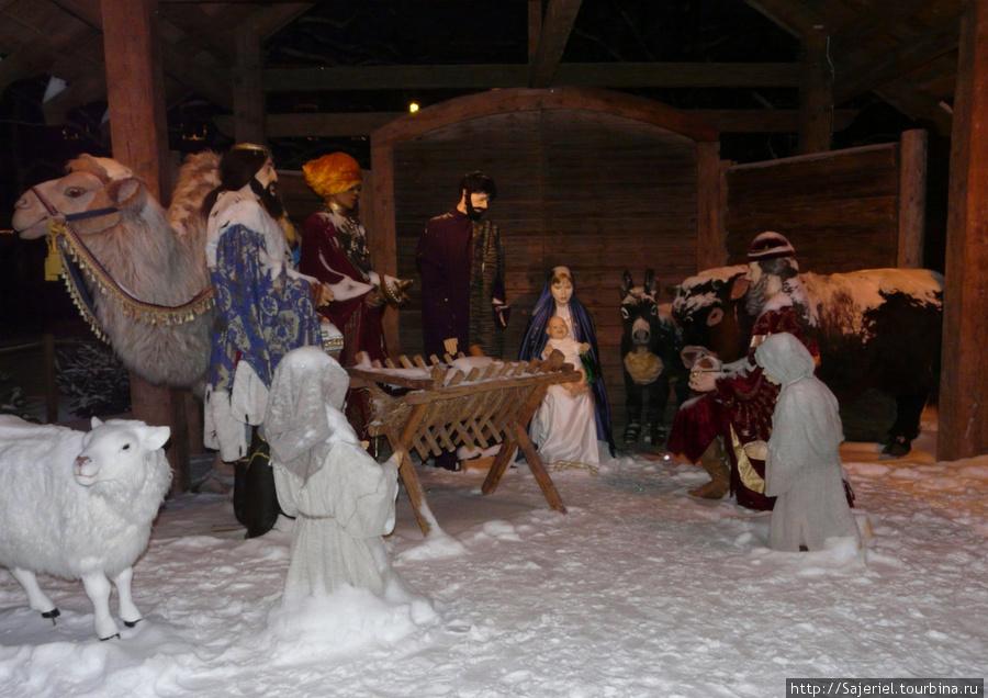 Рождественский вертеп на площади Вильнюса
