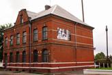 Старый кирпичный дом в Полесске