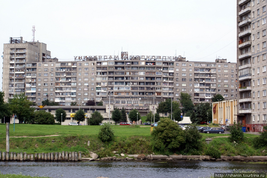 Новые дома на берегу реки Преголя в Калининграде Калининград, Россия