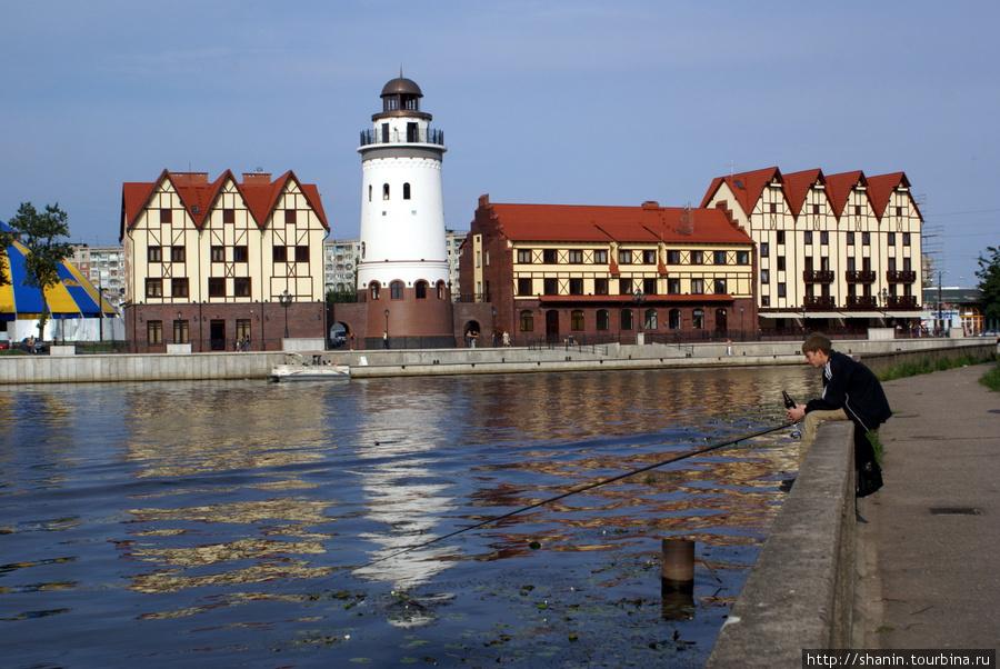 Рыбная деревня на берегу реки Преголя в Калининграде Калининград, Россия