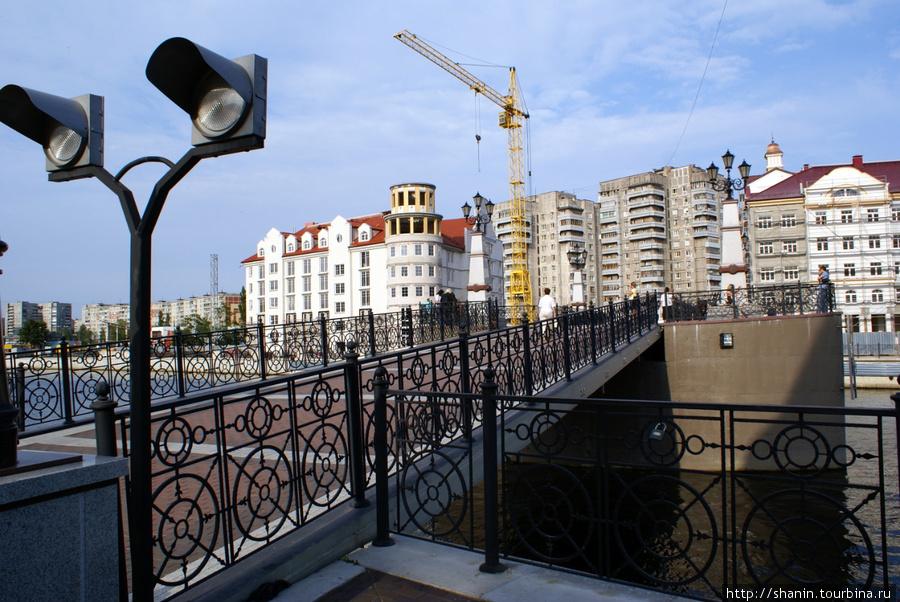 Мост на реке Преголя Калининград, Россия