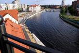 Вид с маяка в Рыбной деревне на реку Преголя в Калининграде